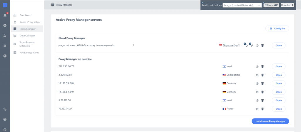 Bright Data's Proxy Manager helps you control the proxy services they offer and rotate them as needed